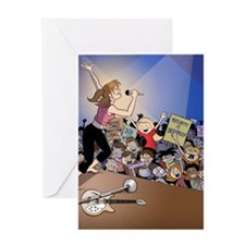 concert poster Greeting Card