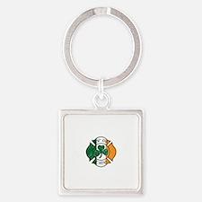 ElroyInc_Irishtee Square Keychain