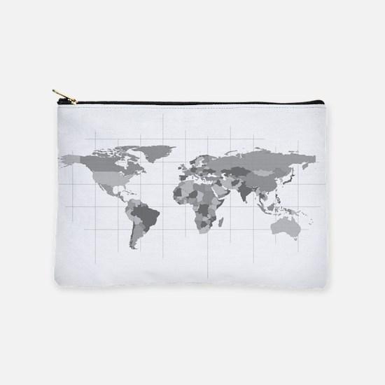 World Map Makeup Pouch