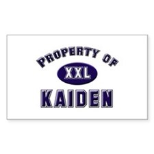 Property of kaiden Rectangle Decal