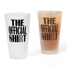 official shirt Drinking Glass