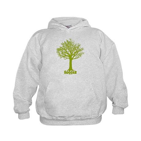 TREE hugger (lime) Kids Hoodie