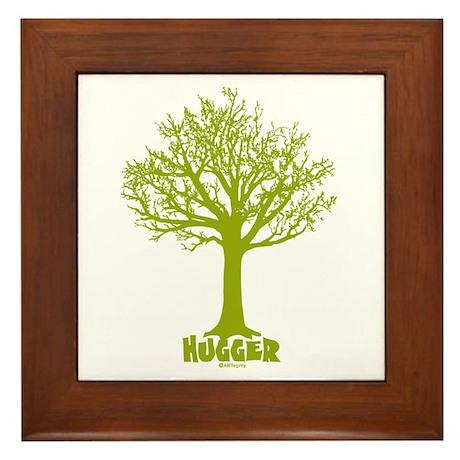TREE hugger (lime) Framed Tile