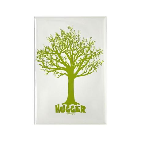 TREE hugger (lime) Rectangle Magnet (10 pack)