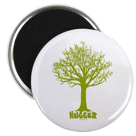 TREE hugger (lime) Magnet