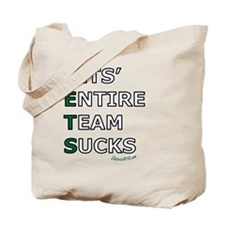 jets_suck_black Tote Bag
