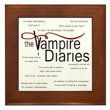vamp quotes dark Framed Tile