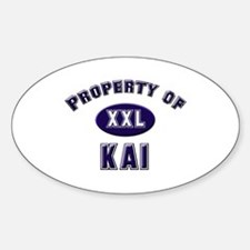 Property of kai Oval Decal