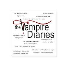 """vamp quotes dark Square Sticker 3"""" x 3"""""""