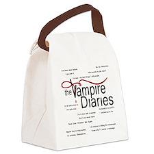 vamp quotes dark Canvas Lunch Bag