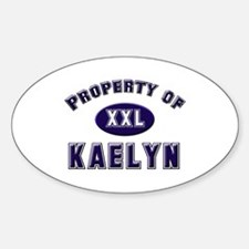 Property of kaelyn Oval Decal