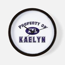 Property of kaelyn Wall Clock