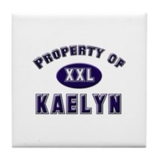 Property of kaelyn Tile Coaster