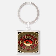 fire_1_large Square Keychain