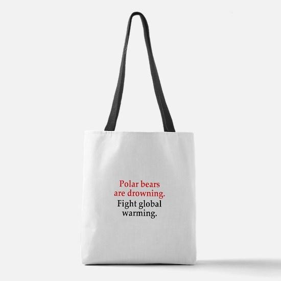Polar Bears Polyester Tote Bag