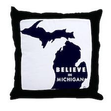 Believe_in_MI Throw Pillow