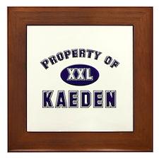 Property of kaeden Framed Tile