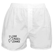 GIVE PEACE A CHANCE Boxer Shorts