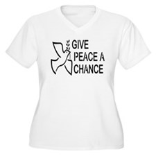 GIVE PEACE A CHANCE Plus Size T-Shirt