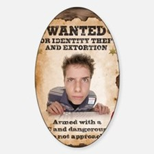 Malware poster Sticker (Oval)