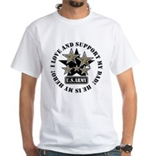 Army Stars Love Support Dad Shirt