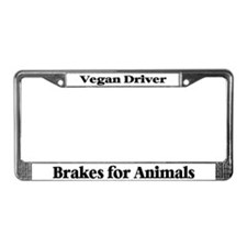 Brakes For Animals (Black) License Plate Frame