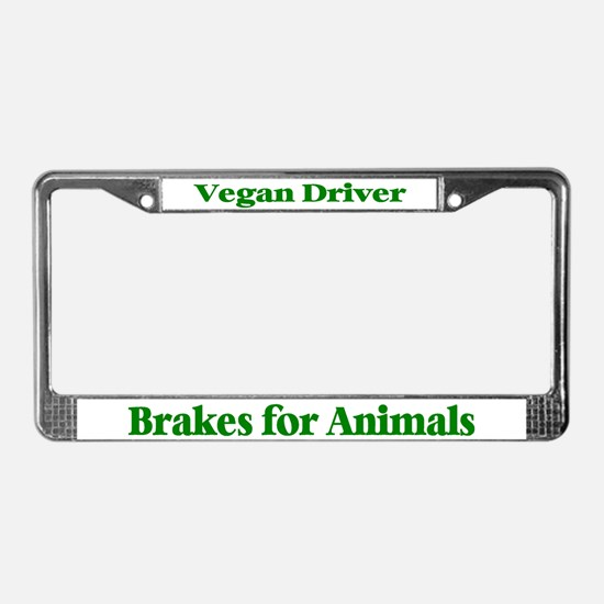 Brakes For Animals (Green) License Plate Frame