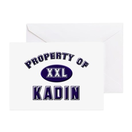 Property of kadin Greeting Cards (Pk of 10)