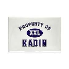 Property of kadin Rectangle Magnet