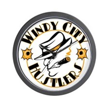Windy City Hustlers Logo Wall Clock