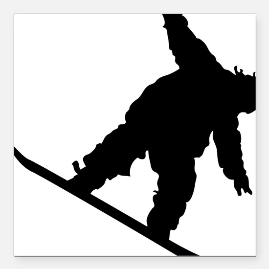 "snowboarderB01 Square Car Magnet 3"" x 3"""