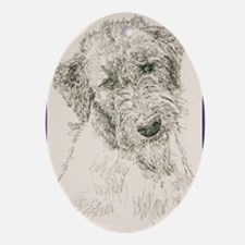 Irish_Wolfhound_KlineSq Oval Ornament