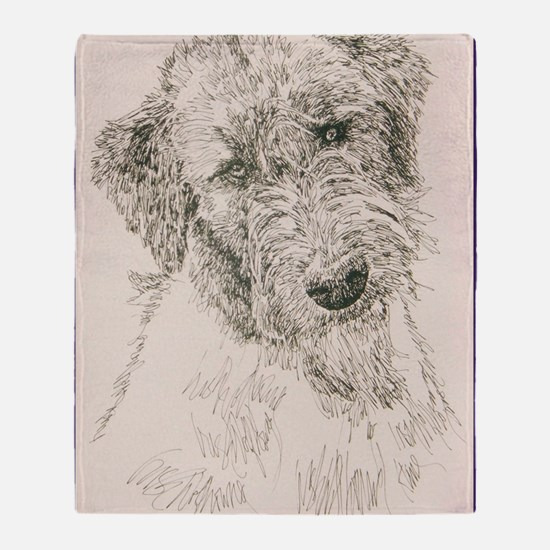 Irish_Wolfhound_KlineSq Throw Blanket