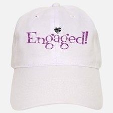 Retro Purple Engaged! Baseball Baseball Cap