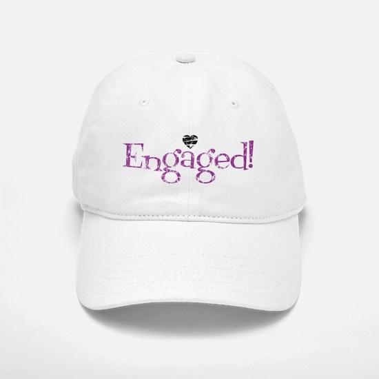 Retro Purple Engaged! Baseball Baseball Cap