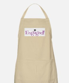 Retro Purple Engaged! BBQ Apron