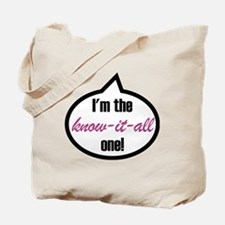 Im-the-know-it-all Tote Bag
