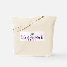 Retro Purple Engaged! Tote Bag