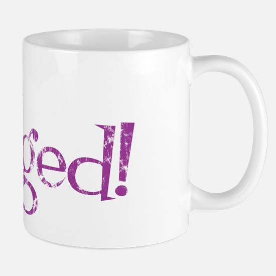 Retro Purple Engaged! Mug