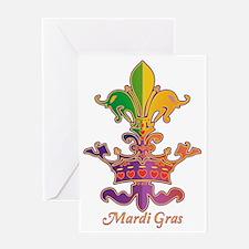 MardiGrasLoveCrownTrSc Greeting Card
