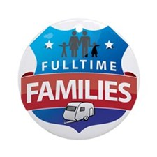 fulltime families logo FINAL Round Ornament