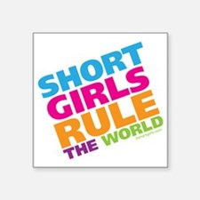 "shortgirls_shirt Square Sticker 3"" x 3"""