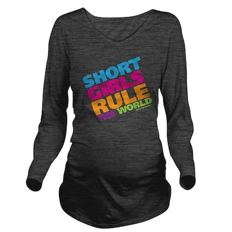 shortgirls_shirt Long Sleeve Maternity T-Shirt