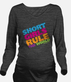shortgirls_shirt Long Sleeve Maternity T-Shirt