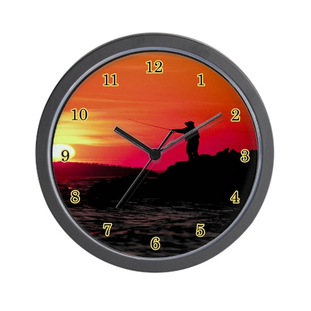 Fishing wall clock by admin cp2151179 for Fish wall clock