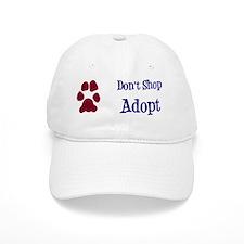 Dont Shop Adopt Sticker Baseball Cap