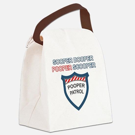 pooperpatrol-back-transparent Canvas Lunch Bag