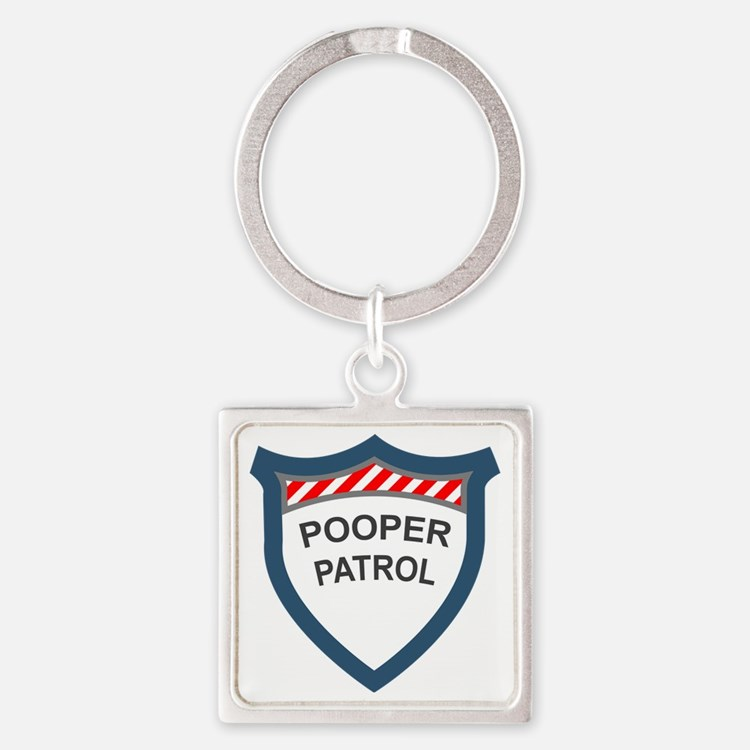 pooperpatrol-pocket-transparent Square Keychain