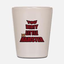 dirty hamster 2 Shot Glass