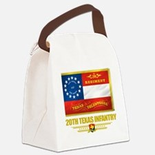 20th Texas Infantry (flag 10) Canvas Lunch Bag